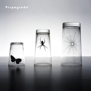 グラス 3点セット コップ 虫 昆虫 おもしろ雑貨 おしゃれ プロパガンダ PROPAGANDA GLASS-SPIDER WEB SET|tycoon