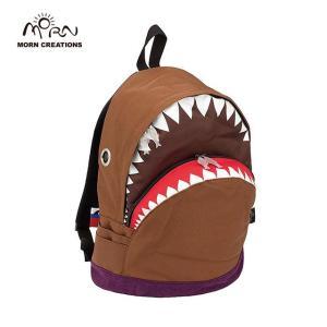 サメ リュック モーンクリエイションズ シャークバックパック L ブラウン MORN CREATIONS SK-101|tycoon