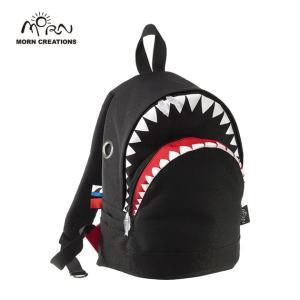 サメ リュック モーンクリエイションズ シャークバックパック M ブラック MORN CREATIONS SK-102|tycoon