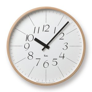 Lemnos(レムノス) Riki Clock(リキクロック) 時計 壁掛け 掛け時計 (φ365mm) WR-0312L イタリック|tycoon