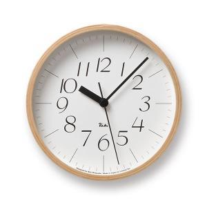Lemnos(レムノス) Riki Clock(リキクロック) 時計 壁掛け 掛け時計 (φ203mm) WR-0312S イタリック|tycoon