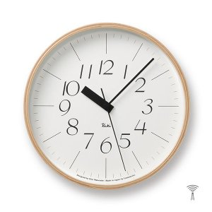 Lemnos(レムノス) Riki Clock(リキクロック) 電波時計 掛け時計 (φ254mm) WR07-10 イタリック|tycoon