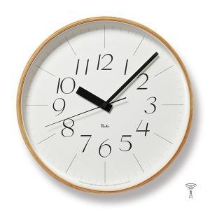Lemnos(レムノス) Riki Clock(リキクロック) 電波時計 掛け時計 (φ305mm) WR08-26 イタリック|tycoon