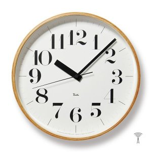 Lemnos(レムノス) Riki Clock(リキクロック) 電波時計 掛け時計 (φ305mm) WR08-27 ボールド|tycoon
