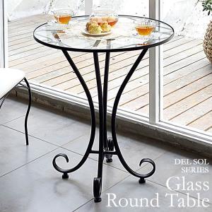 テーブル ガラス ダイニングテーブル 丸テーブル ガラステーブル|tycoon