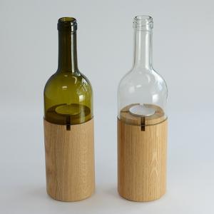 SIDE BY SIDE (サイド バイ サイド) ワインボトル キャンドルホルダー Wind Light Wine|tycoon
