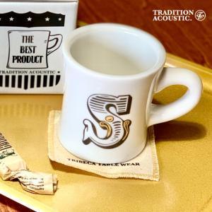 トラディションアコースティック TRADITION ACOUSTIC Alphabet Mug アルファベットマグカップ コースター付き 250ml|tycoon