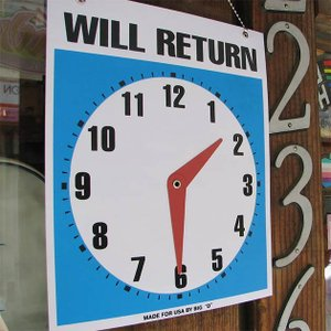 何時に戻ります WILL RETURN / OPEN サインプレート メッセージプレート アメリカン おしゃれ アンティーク 店舗 玄関インテリア 看|tycoon