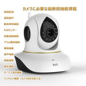 ネットワークカメラ  ベビーモニター  防犯カメラ  100万画素  遠隔操作 動体検知 暗視可  iPhone iPad スマホ タブレット対応  セキュリティーカメラ
