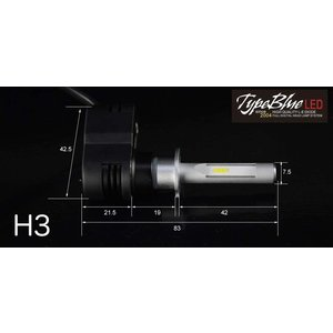 日産フェアレディZ Z32用 H3CスマートLEDキット 2灯1セットTypeBlue 30W 4300K クリームホワイト色【車検対応色】 typebluejp 02