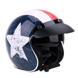 TOYOSO 自転車 ヘルメット フルフェイスヘルメット アライヘルメット 半帽 半ヘル 復古 昭和風 仕様 ゴーグル付き|tysj-online
