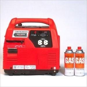 (送料別途) 停電、災害時の非常用に。アウトドア、イベントに。  三菱重工 ポータブルガス発電機 M...