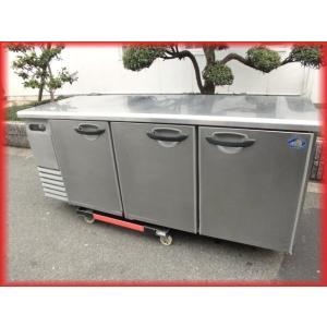 冷凍庫 業務用 中古 サンヨー 3ドア 台下冷凍庫 1800×600mm 416L テーブル型  コールドテーブル  厨房器機 b|tyubo110