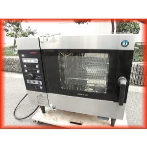 スチームコンベクション オーブン 電気 業務用 中古 ホシザキ MIC-5TB3 200V クックエブリオ 2017年製 卓上型 芯温センサー付 厨房機器 i|tyubo110