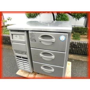 冷凍庫 業務用 中古 ドロアー コールドテーブル フクシマ 755×600mm 91L(3段) YDC-083FM2 2015年製 厨房器機|tyubo110