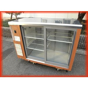 冷蔵ショーケース 業務用 中古 RTS-100STB2 スライド扉 テーブル型 2016年製 ホシザキ 1000×450×800mm  厨房用品|tyubo110