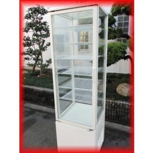 冷蔵ショーケース 中古 5面ガラス スイング扉 AGV-200XB 216L 500×535×1768mm サンデン 2013年 厨房機器 大阪発|tyubo110