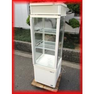 冷蔵ショーケース 中古 4面ガラス スイング扉 SSR-165BN 93L 432×438×1397mm サンヨー 2011年 厨房機器 大阪発 f|tyubo110