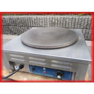 電気クレープ焼器 卓上型 ニチワ クレープメーカー 100V CM-410 500×500×210mm 中古 業務用 厨房器機 i|tyubo110