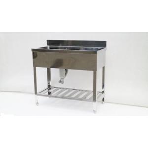 シンク 業務用 水切り台付き1槽シンク 流し台 ステンレス 900×450 頑丈な造りです 屋外やガーデニングにも |tyubo110