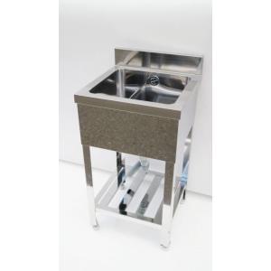 シンク 業務用1槽シンク 流し台 ステンレス 450×450 頑丈な造りです 保健所の申請 屋外やガーデニングにも |tyubo110