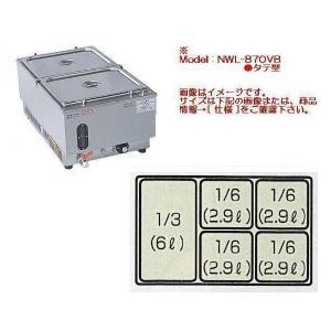 【メーカー直送☆代引不可】 アンナカ 電気ウォーマーポット(電気湯せん器) NWL-870VI型(タテ型)|tyubou-byonho