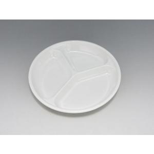 【数量限定☆特別価格】 韓国製メラミン食器 DS-3 丸皿 15cm 三ツ仕切|tyubou-byonho