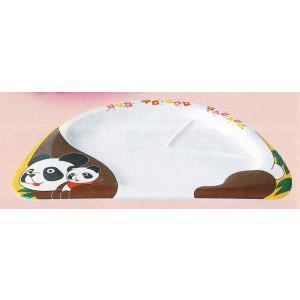 エンテック メラミン食器 お子様ランチ皿 L-2 「パンダ」 355×240×22mm ※日本製※ |tyubou-byonho