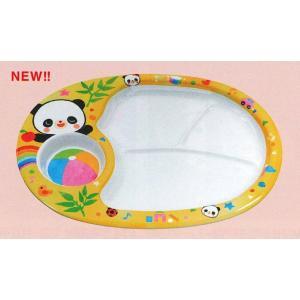 エンテック メラミン食器 お子様ランチ皿 L-7 「赤ちゃんパンダ」 313×273×25mm ※日本製※ |tyubou-byonho