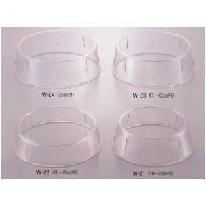 エンテック 丸皿枠(ポリカーボネイト) 抗菌材入 W-23(23cm〜25cm用)|tyubou-byonho