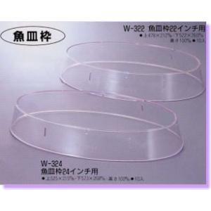 エンテック 小判皿枠(ポリカーボネイト) W-322(22インチ用)|tyubou-byonho