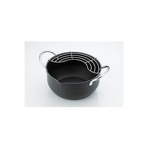 鉄なべ たっぷり深型揚げ鍋 22cm|tyubou-byonho