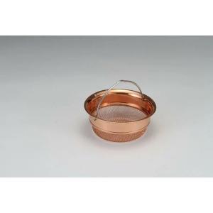タケコシ 純銅製網 排水口バスケット 浅型|tyubou-byonho