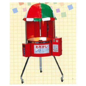 【メーカー直送★代引不可】 わた菓子 自動販売機 CA-6型(100円用)|tyubou-byonho