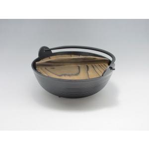 いろり鍋(やまと鍋) アルミ製 18cm 木蓋付 tyubou-byonho