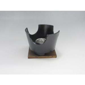 いろり鍋(やまと鍋)コンロセット(黒) 中 アルミ製 tyubou-byonho