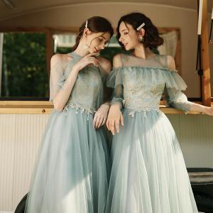花嫁ドレス 大きいサイズ チュールワンピース イブニングドレス スエレガンス ナイトドレス パーティ...