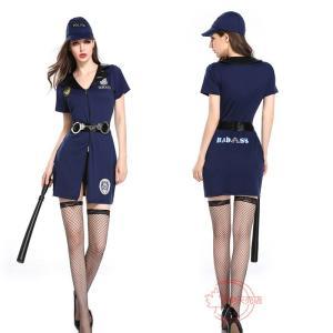Halloween ハロウィン 万聖節 コスプレ ワンピース 婦人警官  キャラクター セクシー ポ...