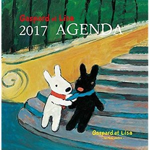 Gaspard et Lisa 2017 AGENDA Gaspard et Lisa-la rencontre-リサとガスパール 2017|tywith2