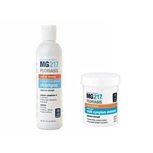 国際乾癬協会推奨商品 乾癬用 MG217 シャンプー&軟膏セット 240ml/107ml Psoriasis Medicated Condi|tywith2