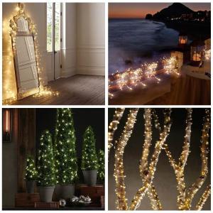 TOPLIFE イルミネーションライト 10メートル 100 LED電球 電池式 LED ライト リモコン付き 室外 装飾 結婚式 パーティ|tywith2