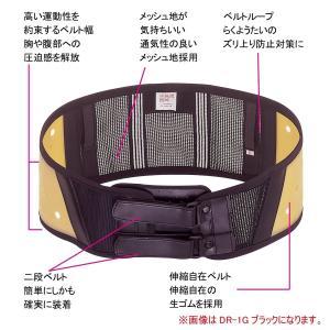 ミドリ安全 女性用 腰部保護ベルト アウター&インナータイプ らくようたい DR1L ホワイト M|tywith2