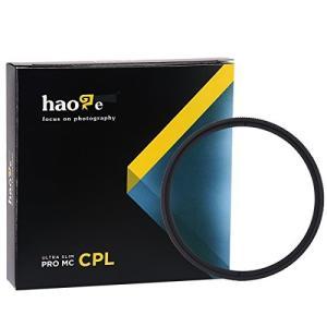 Haoge 偏光レンズフィルター 37mm MC CPL マルチコート 円 Canon Nikon ...
