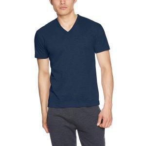 ビー・ブイ・ディ VネックTシャツ 吸水速乾 しっかりアウターライク 定番オープンTシャツ ネイビー...