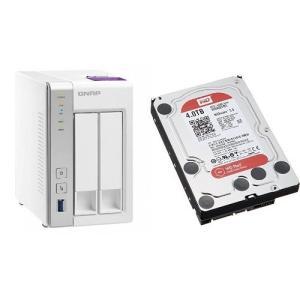 セット買い:NASキット+WD Red HDD 4TB 1台QNAP(キューナップ) TS-231P...
