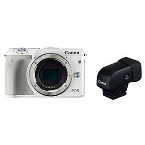 Canon ミラーレス一眼カメラ EOS M3 ボディ(ホワイト) EVFキット EOSM3WH-B...