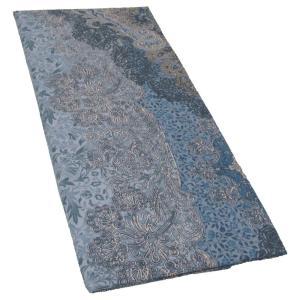 京都西川 枕カバー 花柄 綿100% 日本製 ピローケース 45×65cm ファスナー (ブルー)