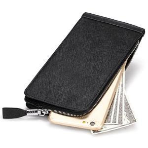 Huztencor 長財布 薄型 二つ折り メンズ レディース 磁気防止 カードケース カード26枚...
