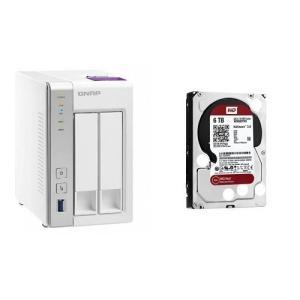 セット買い:NASキット+WD Red HDD 6TB 1台QNAP(キューナップ) TS-231P...