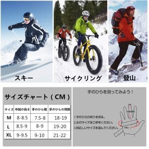 防寒手袋 グローブ アウトドア グローブ 液晶タッチ対応手袋 防寒 防風 防水 滑り止め付き 通気性 自転車 サイクリング バイク 登山 ト tywith